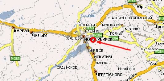 Общий вид карты